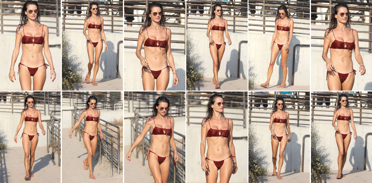 [Photos] Alessandra Ambrosio Set Fire In Bikini Look