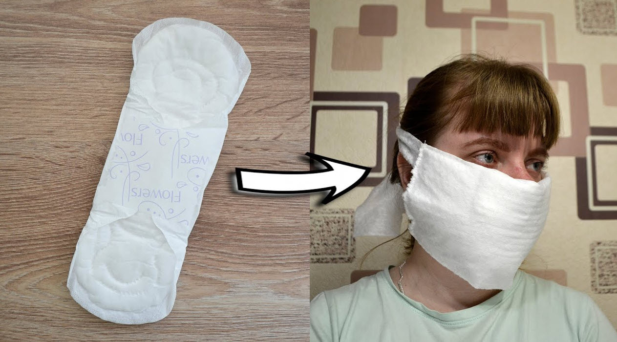 [Photos] British Woman Shopped with Sanitary Pad Instead of Face Mask